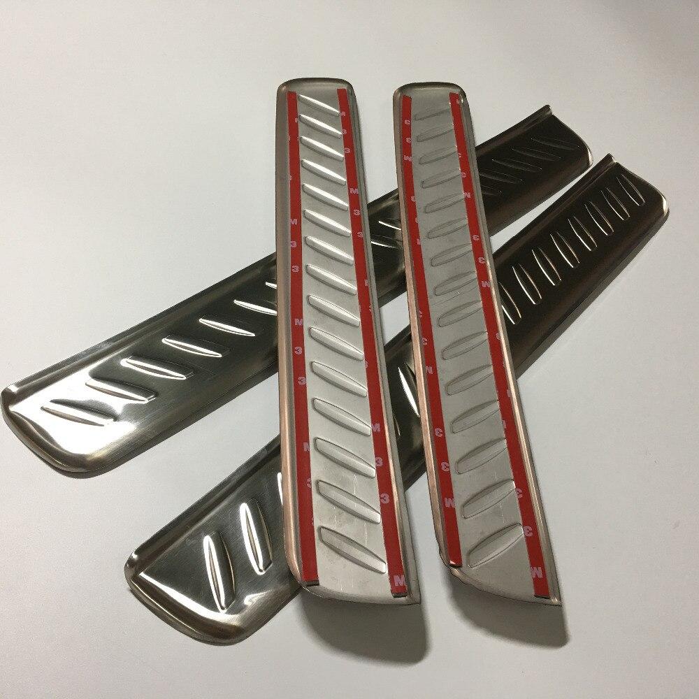 Pour Kia Carens 2013 2014 2015 accessoires neufs!! 4 pièces S. Tige Acier Garnitures De Seuil De Porte Plaque Couvre