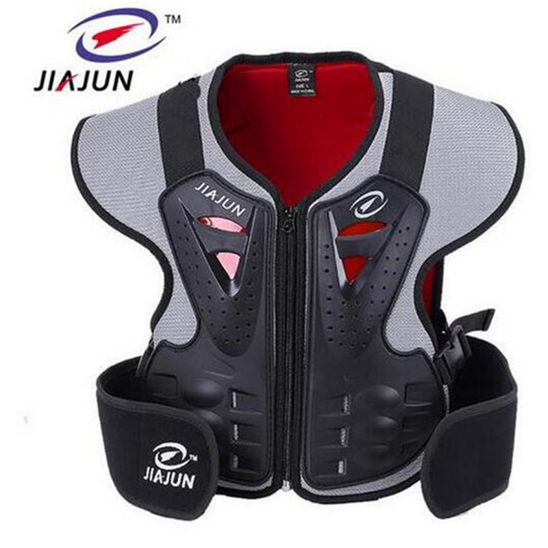 JIAJUN Children Motorcycle Vests Riding Protective Gear Security Back Support Ski Protection Chest Care For kid