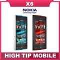 """Teléfono Nokia X6, celular abierto reformado, 3.2 """" con pantalla táctil, 3 G, gps, wifi, cámara de 5MP"""