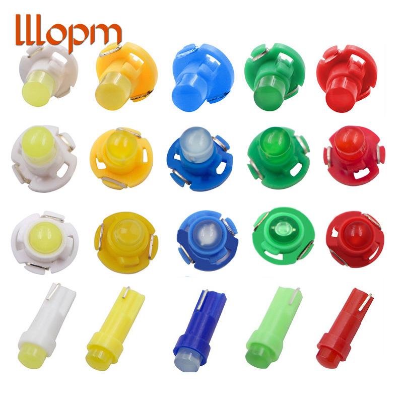 10PCS Interior Light <font><b>T3</b></font> T4.2 T4.7 T5 Wedge LED Bulb Auto Car Instrument Light bulbs <font><b>12V</b></font> automobiles car-styling Car led light image