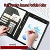New A4 Leather File Folder Document Folder Office Travel Portfolio Folder Organizer Pocket Business Card Holder