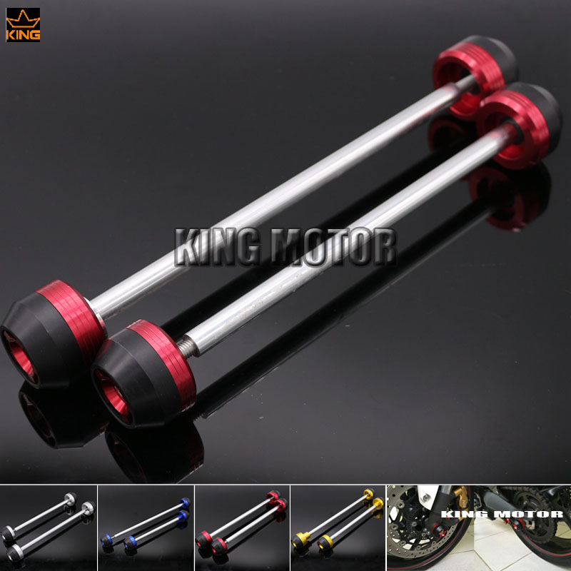 For SUZUKI GSX S1000 GSX S1000F GSX-S1000 GSX-S1000F GSXS1000 2015-2016 Front & Rear Axle Fork Crash Sliders Wheel Protector Red цена