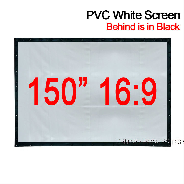 """100/"""" 120/"""" 150/"""" 16:9 HD 3D 4K PVC Projector Projection Screen Home Cinema Theater"""