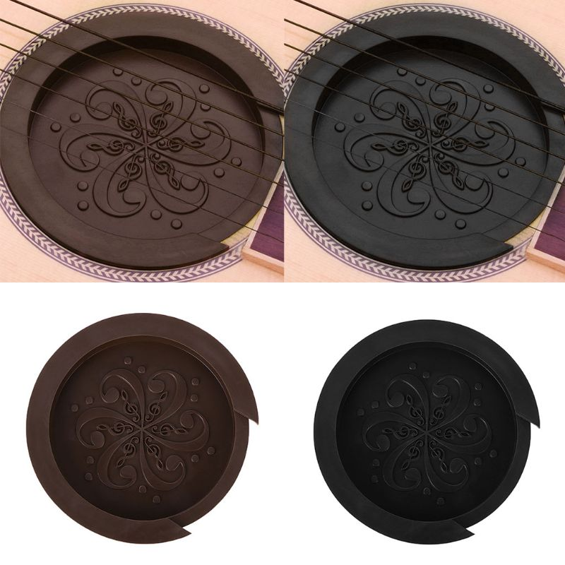 Silicone Acoustic Guitar Soundhole Cover Weak Sound Buffer Plug Guitar Accessory