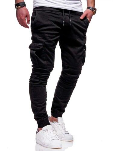 0ed4eade2c Otoño nuevos hombres Slim Fit urbana larga pierna recta encaje hasta  pantalones lápiz Casual basculador pantalones largos moda en Pantalones de  carga de La ...