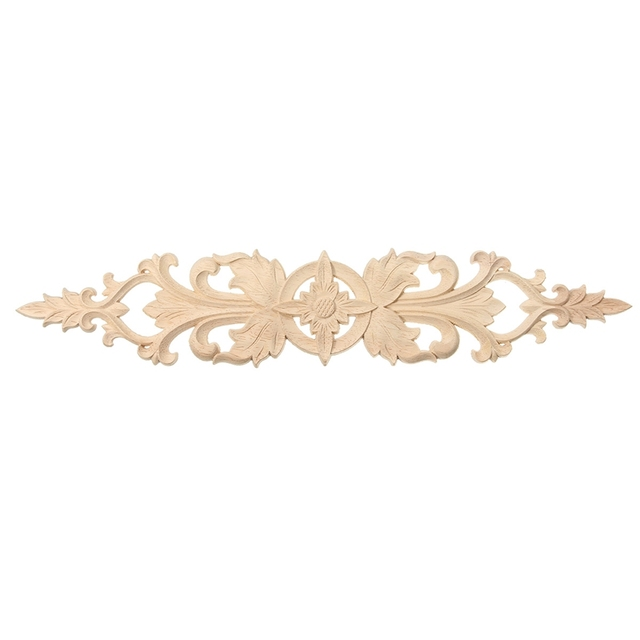 Long Decorative Retro Wooden Applique