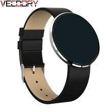 Vecdory Умная Электроника сердечного ритма Мониторы Смарт полосы большой HD Сенсорный экран Шагомер smartbands Bluetooth напоминание Сообщения