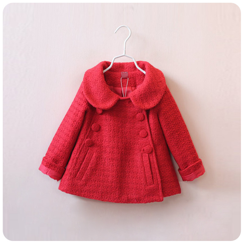 Fashion Baby Girls A Line Coat Children England Style Plaid Warm ...