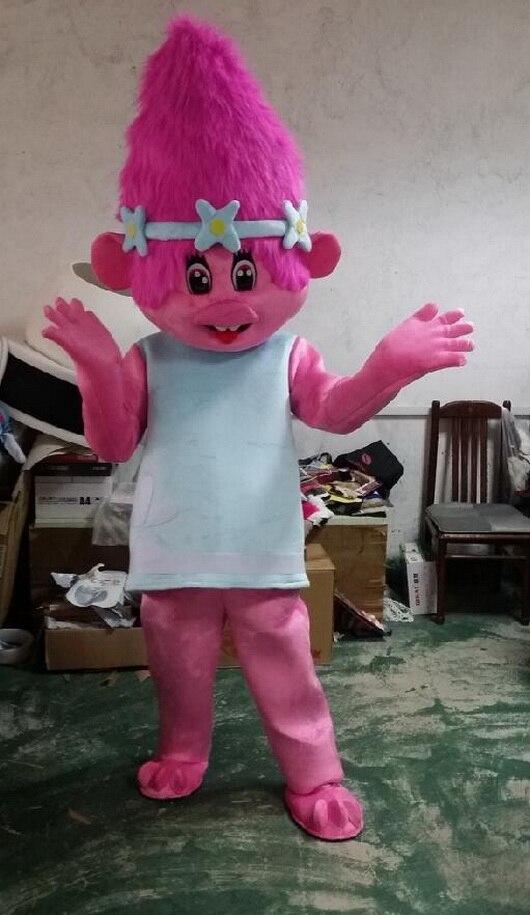 2017 nouveauté adulte Troll mascotte Costume Trolls mascotte défilé fantaisie robe Costume de haute qualité Clowns anniversaires Troll