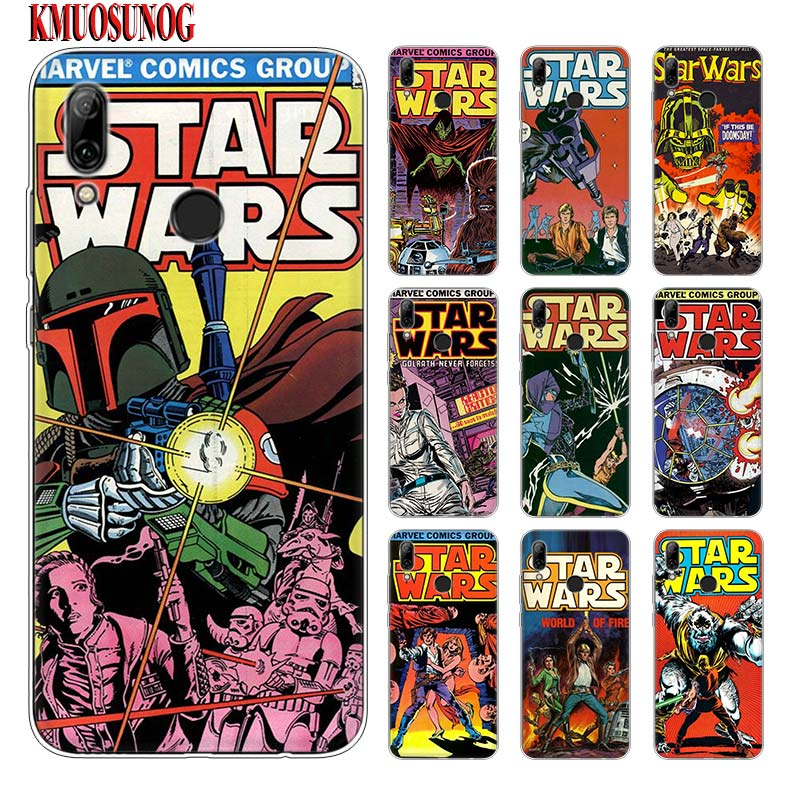 Silicone Phone Case star wars marvel comics for huawei P30 Lite P Smart Honor 7A 8 8A 8C 8X 10i Y5 Y6 Y7 Y9 Pro 2019 2018 2017 image