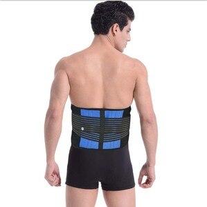 Image 5 - Kadın erkek sırt duruş desteği kemer elastik sırt kemer geri Brace destek lomber Brace bel korse büyük boy XXXL XXXXL Y010