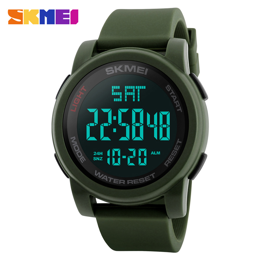 купить SKMEI Fashion Men Military Outdoor Sports Watches Waterproof Relojes Electronic LED Digital Wristwatches Clock Relogio Masculino недорого