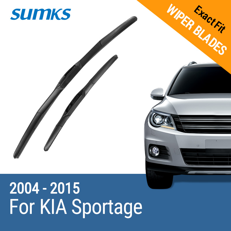 SUMKS Wiper Blades for KIA Sportage 24& 16 /24& 18 Fit hook Arms 2004 2005 2006 2007 2008 2009 2010 2011 2012 2013 2014 2015