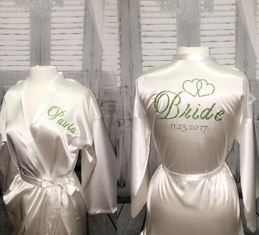 Gifts For Wedding Night: Personalize Bride Name Date Bridal Shower Pajamas