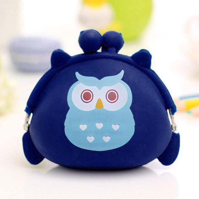 все цены на  Women Girl Cute Owl Silicone Jelly Hasp Coin Purse Wallet Fashion Small Change Bag Ladies Key Pouch Coin Purses carteira  в интернете