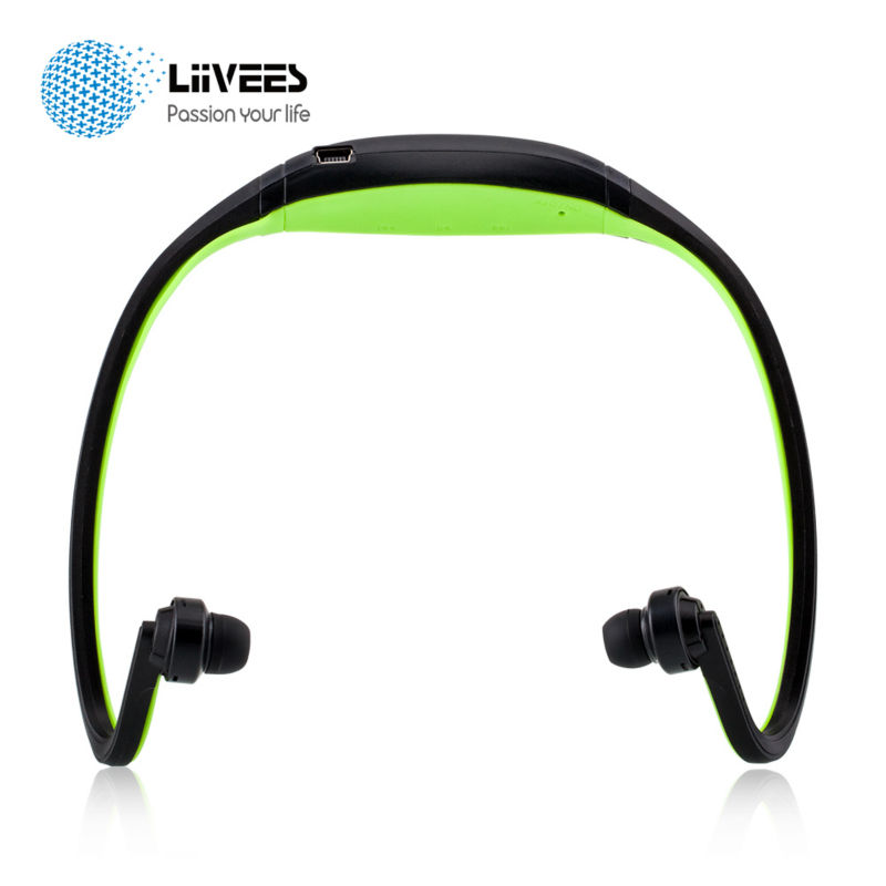 LiiVEES S9 Wireless Sport Bluetooth Headphones Stereo Bass Earphones SD Card Sport Headsets Built in Mic