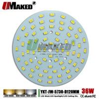UMAKED 36 W 120mm LED PCB placa de Alumínio Da Lâmpada SMD5730 Fonte ChipLED Quente/Natural/Branco Teto DIY Lâmpada Baía luz Spotlight|Lâmpadas LED e tubos| |  -