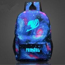 Fairy Tail Rucksack Japan Anime Druck Schultasche für Jugendliche Cartoon Reisetasche Nylon Mochila Galaxia CTT203