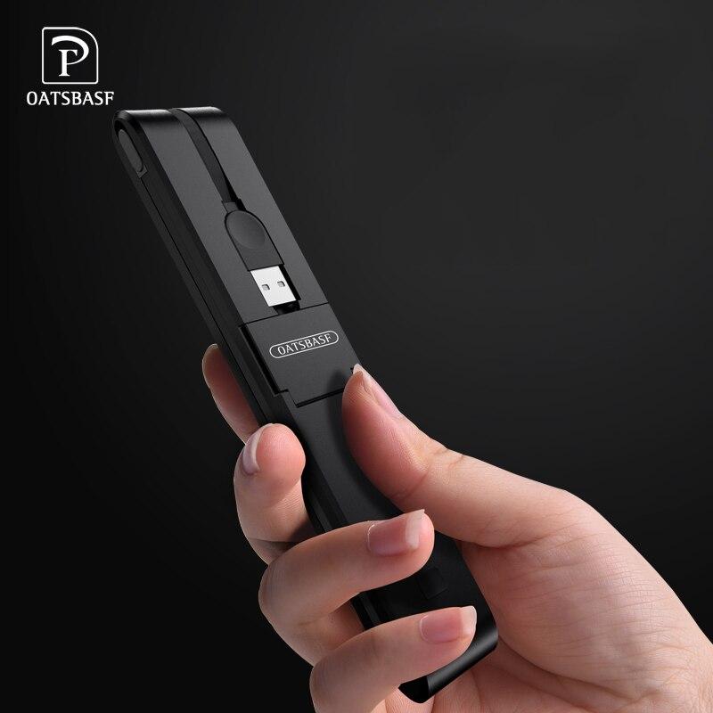 OATSBASF 5000 mah batterie externe batterie externe PoverBank Multi-interface usb Powerbank Portable téléphone Portable chargeur pour iphone XR