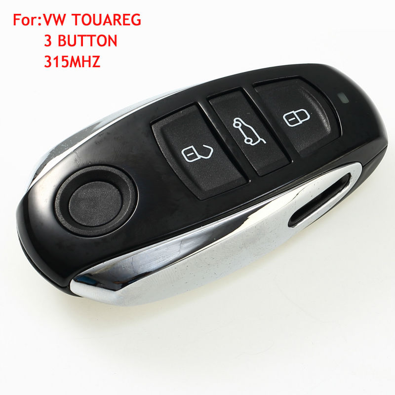 New Uncut Blade Keyless Smart Remote Car Key Fob 3 Button 315MHz 7953 Chip for Volkswagen VW Touareg 2011-2014 With Logo new remote key fob 3 button 433mhz id83 for mazda cx 5 ske13e 01 uncut blade