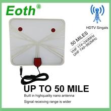 цена на Eoth Free TV Fox HD Digital DTV Indoor TV Antenna TVFox HDTV Antena DVB-T DVB-T2 VHF UHF ISDB ATSC DVB Signal Receiver TV Aerial
