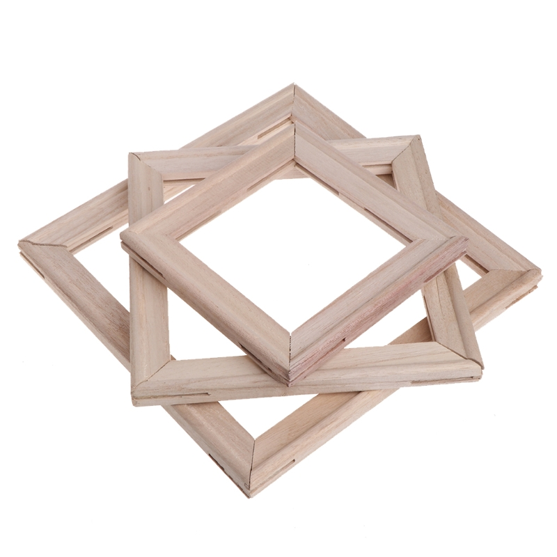 4Pcs/Set Wood Stretcher Strip Bar Frame For Canvas Painting Art Gallery Wrapped Painting Frame
