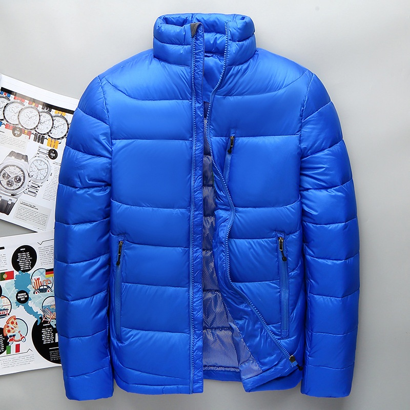 Men White Duck   Down   Jacket Male Winter Outdoor   Down     Coat   Casual clothing thicken Mens short Outerwear 2019 Autumn New