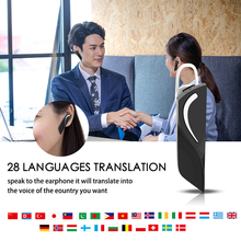 Bluetooth v4.2 Smart Earphone translation Bluetooth Headset Wireless Smart Inter-Translation Supported 28 Kinds Languages multifunction wireless instant translation business bluetooth in ear earphone 16 languages any conversion for ios android