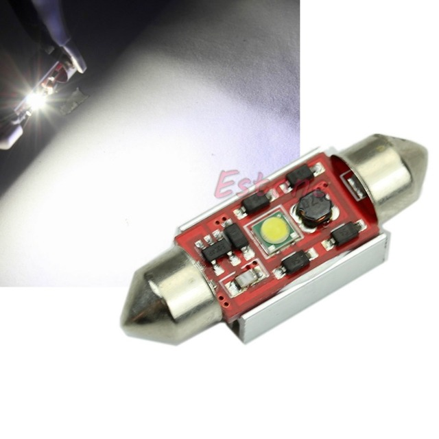 1PC 39MM 7W LED Indication Canbus Dome Festoon Signal light New