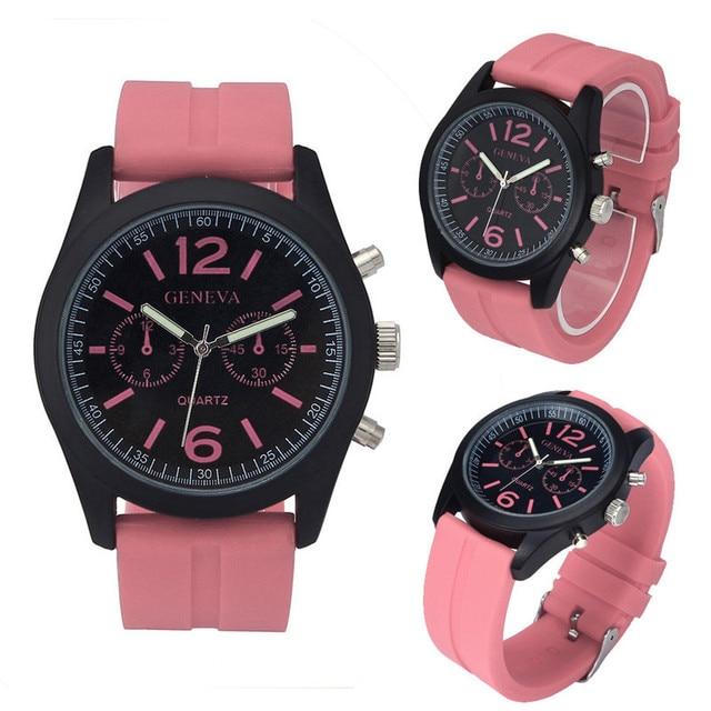 Geneva Fashion Unisex Watch Silicone Analog Quartz Sports Wrist Watch Women Men