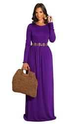 Długa sukienka eleganckie kobiety sukienka sukienki fioletowy party z długim rękawem Vestido longo de festa de noche vestidos largos de invierno 1