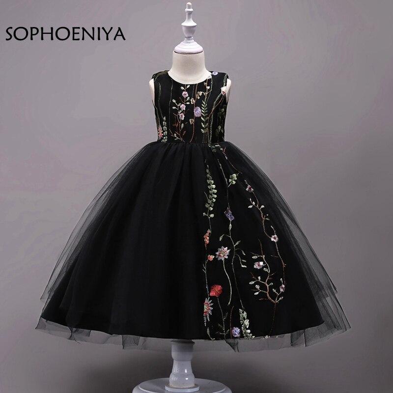 New arrival mbroidery   Flower     Girl     Dresses   2019 vestido de festa longo Cheap   flower     girl     dress   first Communion   dresses   for   girls