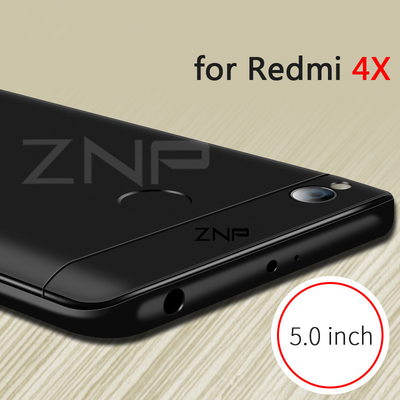 ZNP 360 Degree Full Cover Protection Case For Xiaomi Redmi Note 4X 4 Case With Glass For Xiaomi Redmi 4X Note 4 Phone Case Shell