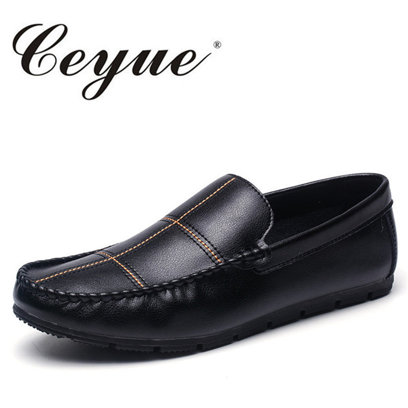 Ceyue Handmade Designer Driving Loafers Men Leather Shoes Lightweight Walking Comfort Shoes Men Flat Casual Loafers Heel Shoes ceyue handmade leather men shoes casual luxury brand men loafers fashion breathable driving shoes slip on stylish flat moccasins