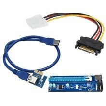 USB 3.0 PCI-E PCI Express Extender Адаптер Riser Card Usb 3.0 1X, 4 Х, 8 Х, 16X PCI-e Слот 60 см Адаптер Карт PCIE БТД Горно право