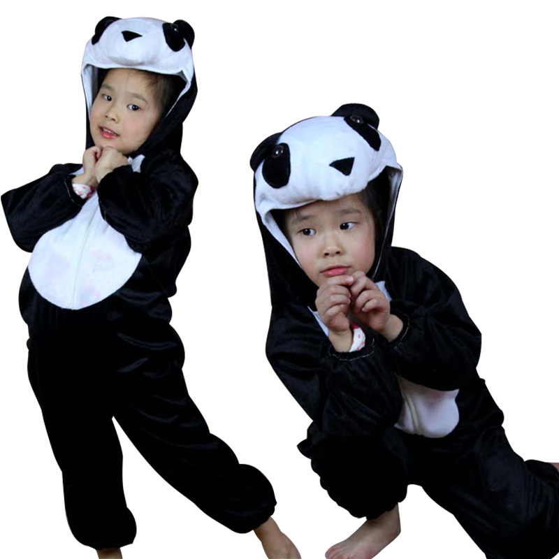 Chinese Giant Panda Mascot Costume Animal Cosplay Costumes Jumpsuit Children's Day Kids Performance Clothes