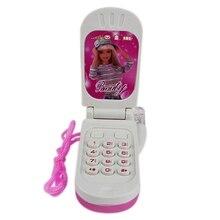Электронный телефон игрушка Музыкальный Мини Милая Детская игрушка раннее образование мультфильм мобильный телефон детские игрушки