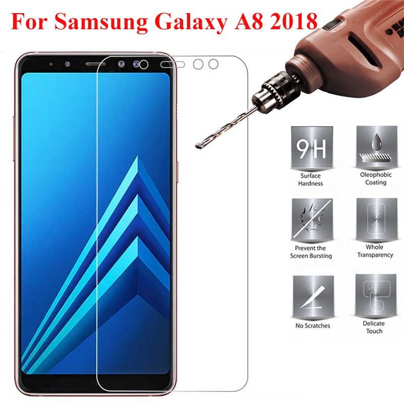 Tempered Glass for Samsung Galaxy A8 2018 on Screen Protector Phone Film for Samsung A8 2018 on Glass Tempered A830 Film 2PCS in Phone Screen Protectors from Cellphones Telecommunications