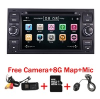 Черный пианино 7 дюймов емкостный сенсорный экран DVD плеер автомобиля для Ford Focus Kuga транзит 3g Bluetooth Радио RDS USB SD Бесплатная gps географические к