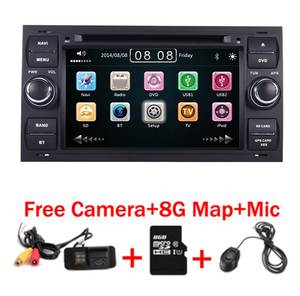 Black Piano 7 inch Capacitive Touch Screen Car DVD Player for Ford Focus Kuga Transit 3G Bluetooth Radio RDS USB SD Free GPS Map