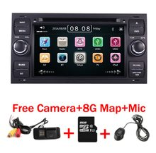 Piano preto capacitivo touchscreen de 7 polegadas, dvd player para carro ford focus kuga transit 3g bluetooth rádio rds mapa gps livre usb sd