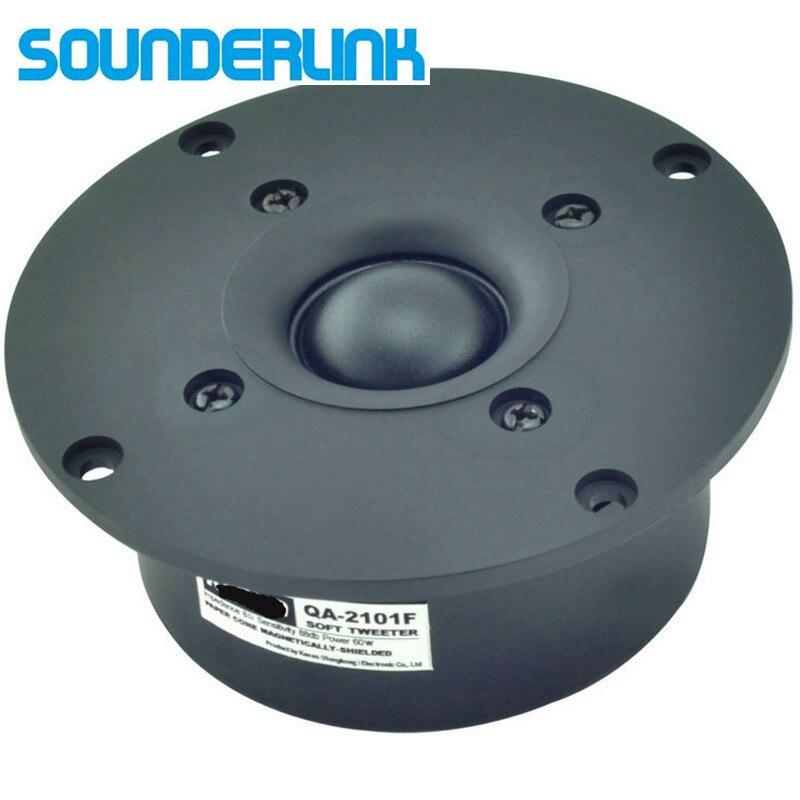 2PCS LOT Sounderlink Kasun QA 2101FHiFi silk soft magnetic shield superb Dome speaker tweeter unit 4