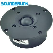 2 قطعة مجموعة Sounderlink Kasun QA 2101FHiFi الحرير لينة المغناطيسي درع رائع قبة المتكلم مكبر الصوت وحدة 4 بوصة 103 مللي متر 8Ohm
