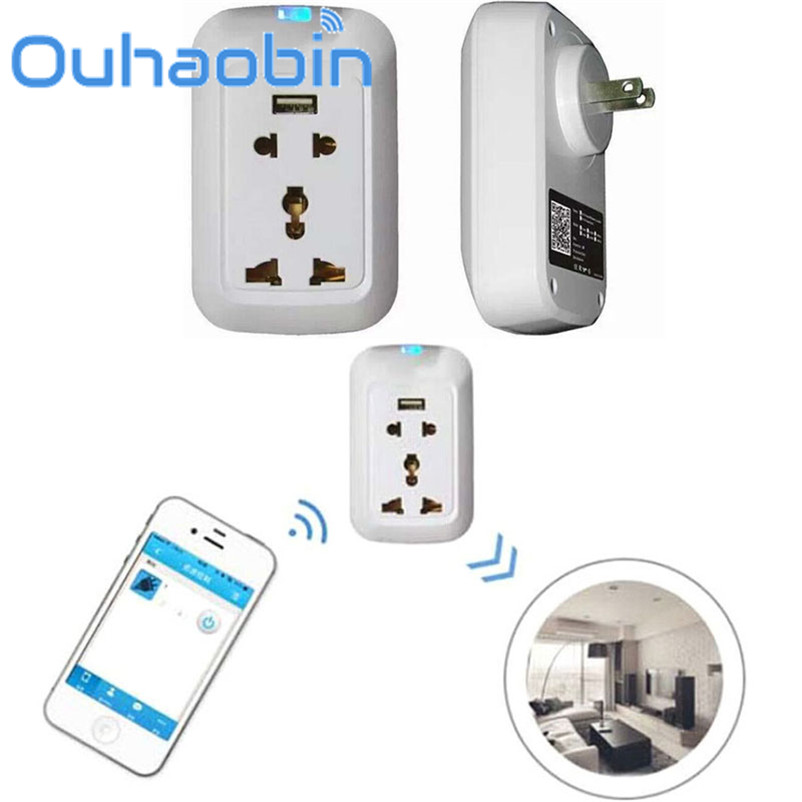 Ouhaobin Wifi Wireless Remote Control Switch Timer Smart Power Socket US Plug Gift Oct 18 Dropship