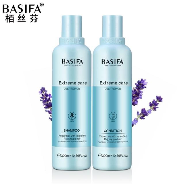 BASIFA professionall hair shampoo and conditioner nourishing hair care set hair steamer cream for deep moisturizing hair