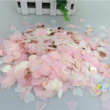 """1,5 см 10 г(1000 шт) розовое золото смешанный в форме сердца бумажный воздушный шар """"Конфетти"""" Стол Конфетти Свадебные принадлежности"""