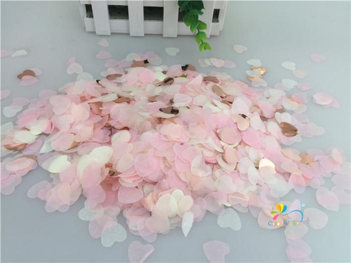 1,5 см 10 г (1000 шт.) розовое золото, смешанный в форме сердца бумажный воздушный шар