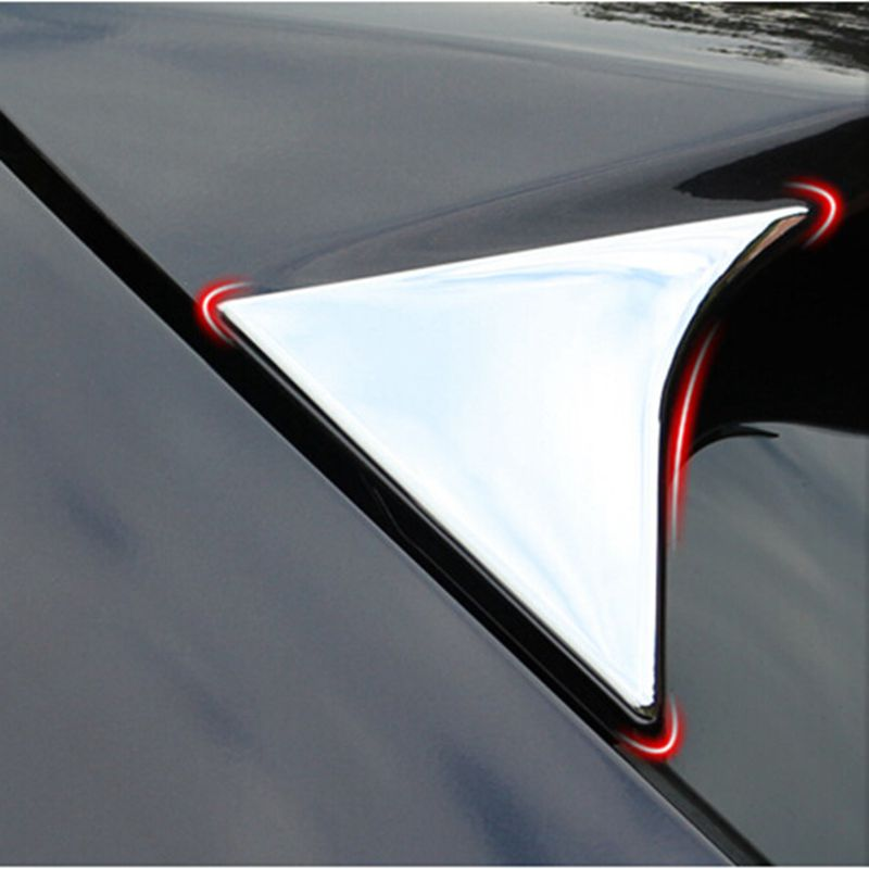 For <font><b>Honda</b></font> <font><b>HRV</b></font> HR-V Vezel 2014 2015 2016 ABS Chrome Side Rear Window Spoiler Cover <font><b>Trims</b></font> Molding Garnish Decoration 2pcs/set image