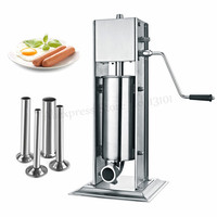 7 Liters Vertical Sausage Stuffer Meat Processor Salami Filler Stainless Steel Churros Filling Machine Churro Extruder