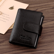 Ouliss Leather Credit Card Holder Man Multi – Card Cow Leather id card holder Simple Business Card Holder